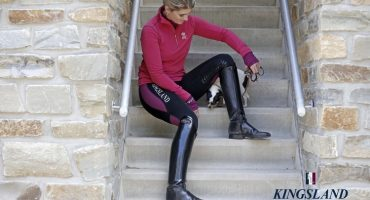 LATTICIA LADIES FLEECE JUMPER, KAITLYN LADIES J-TEC2 KNEE GRIP TIGHTS